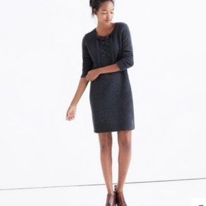 Madewell Merino Wool Lace Up Sweater Dress